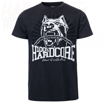 100% HARDCORE T-SHIRT DOG-1 GREY