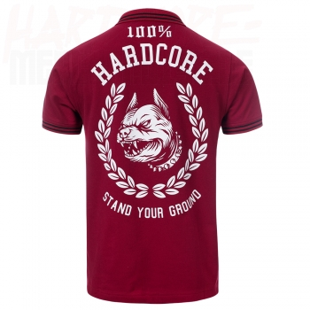 100% HARDCORE POLOSHIRT STAND YOUR GROUND BORDEAUX ROT