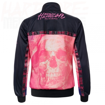 100% HARDCORE LADY TRAININGSJACKE SKULL PINK LIMITED EDITION