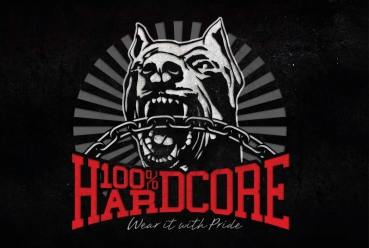 100% HARDCORE BANNER DOG-1