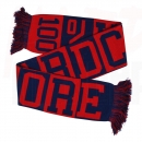100% HARDCORE SCARF RED BLUE BLOCKED